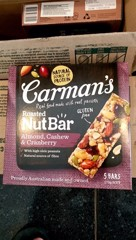 GR-Nut Bar Almond Cashew & Cranberry Carman's 175g