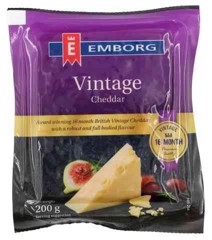DC-Cheddar Cheese Vintage Emborg 200g (Pack)