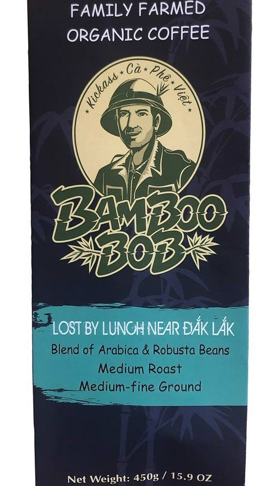 CF-Lost By Lunch 80% Arabica & 20% Robusta ground coffee Bamboo Bob 450g T9 (Pack)