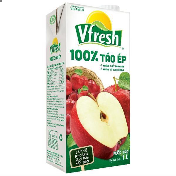 BJ- Apple Juice 100% Vfresh 1L ( box )