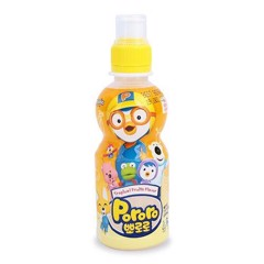 BJ-Banana Flavor Juice Pororo 235ml (bottle)