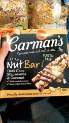 GR-Nut Bar Dark Choco Macadamia Carman's 175g