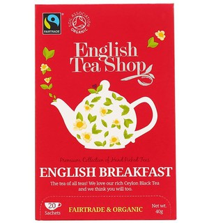 T-English Breakfast Fairtrade & Organic English Tea Shop 20 Sachets