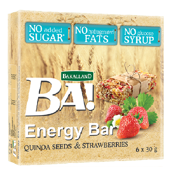 G-Energy Bar Quinoa & Strawberries 180g T11
