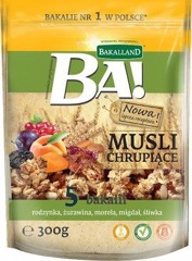 G-Bakalland Crunchy Muesu 5 Dried Fruits& Honey 300g T11