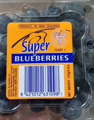 FRI-Fresh Blueberries New Zealand 125g T12