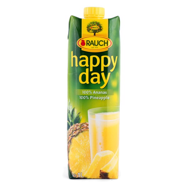 BJ-Happy Day Pineapple Juice Rauch 1L (Bottle)