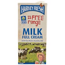 DMF-Full Cream Milk Harvey Fresh 1L T3