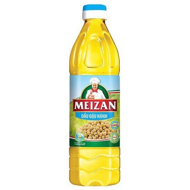 O- Dầu ăn cao cấp Meizan Gold 1L - Premium Cooking Oil ( bottle )