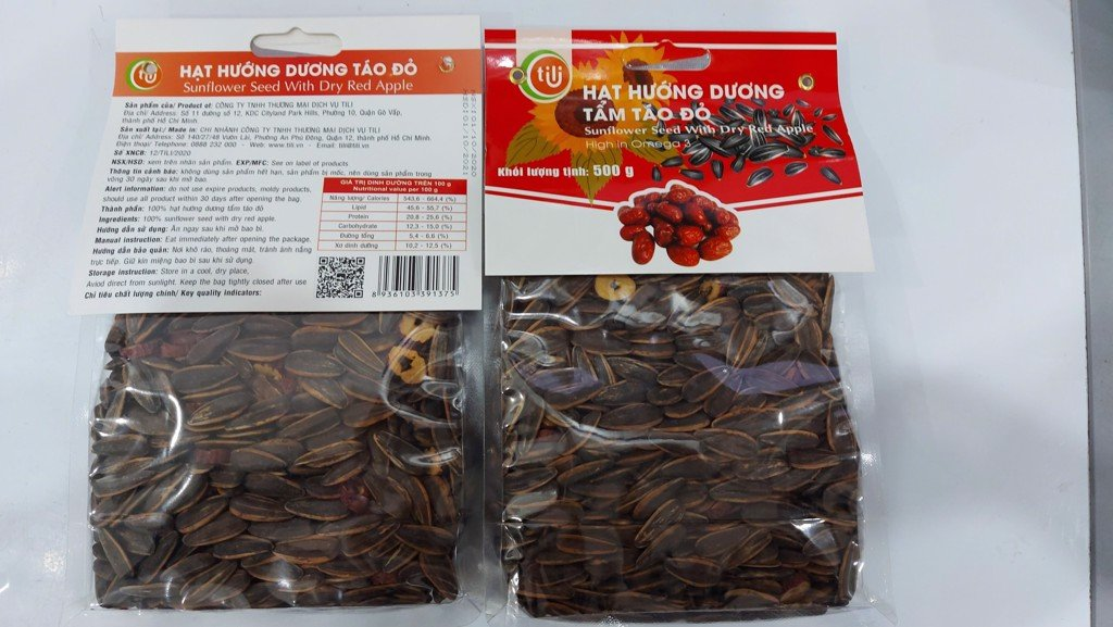 N-Sunflower Seeds Red Apple Flavor Tili 500g T10