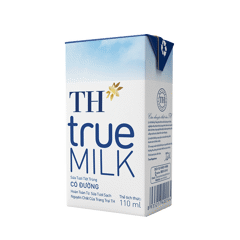 DMF-Sweetened UHT Fresh Milk TH True Milk 110ml