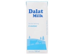 DM-Less Sugar UHT Fresh Milk Dalatmilk 180ml
