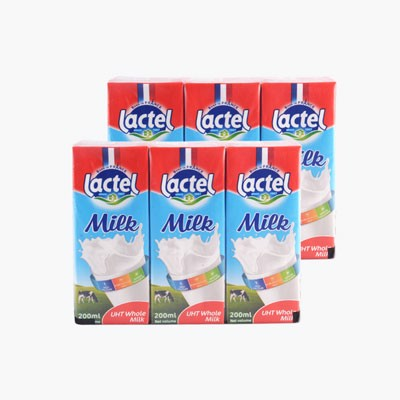 DMF-UHT Full Cream Milk Lactel 200ml