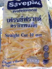 VEF-French Fries Straight Cut 10mm Savepak 2Kg