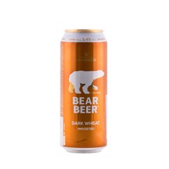 BBI-Dark Wheat Bear Beer 5,4% Harboe 500ml