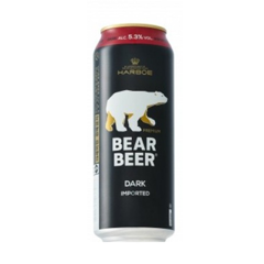 BBI-Dark Bear Beer 5,3% Harboe 500ml