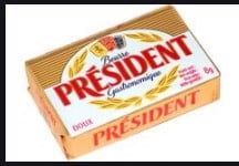 DB-Mini Unsalted Butter President 10*8g T8