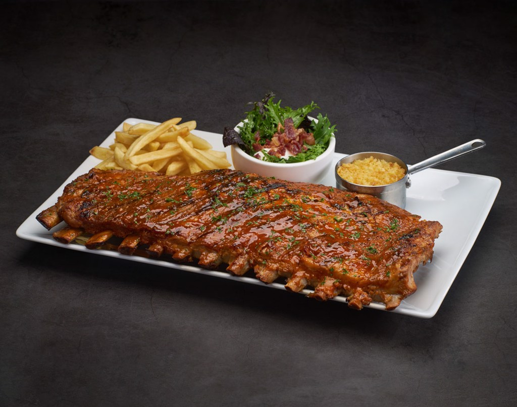 Chicago Hickory Smoked BBQ Ribs 1Kg