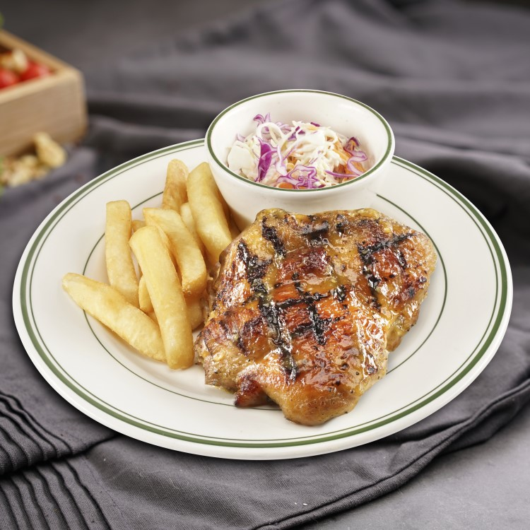 Grilled Chicken Leg With Honey Sauce(Bl)