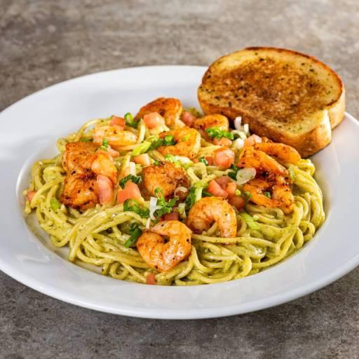 Shrimp Cilantro Pesto Pasta
