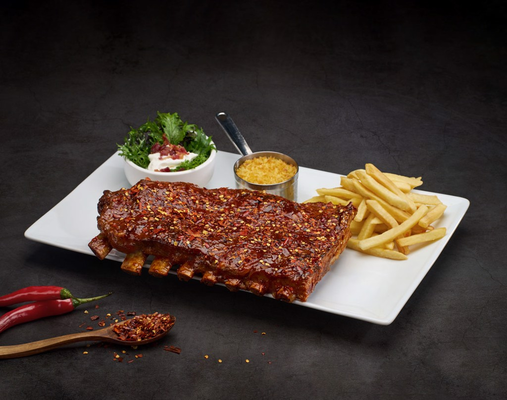 Texas Spicy Smoked BBQ Ribs 0.5Kg