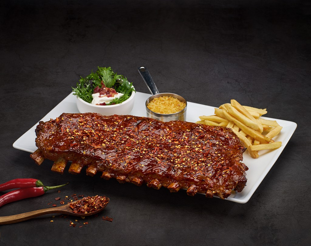 Texas Spicy Smoked BBQ Ribs 1Kg