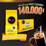 Combo +84 Cafe (1 hộp +84 Cafe perfect blend 250g và 1 hộp +84 Cafe hòa tan 3 in 1)