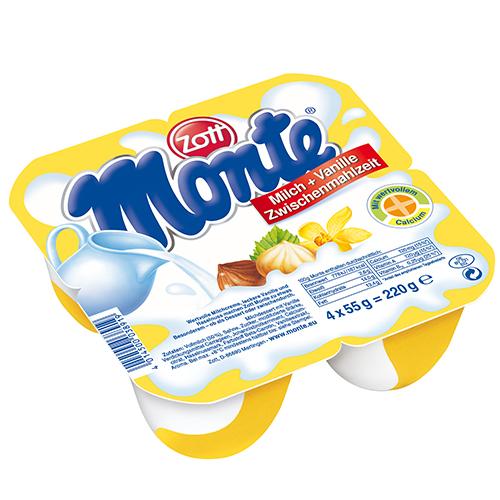Váng sữa ZOTT MONTE vani lốc 4x55g