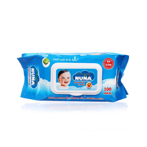 Khăn ướt baby NUNA không mùi 100M