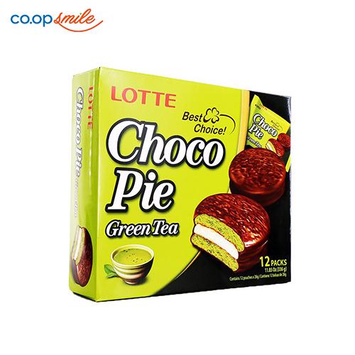 Bánh CHOCO-PIE Lotte trà xanh 336g