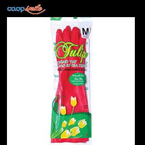 Găng tay cao su Tulip size M 2 cái