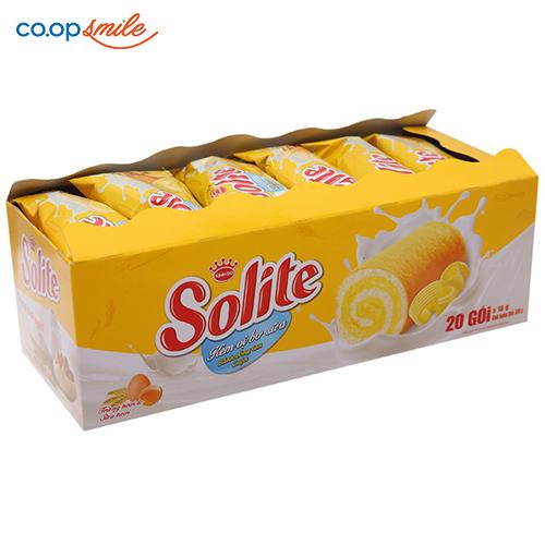 Bánh bông lan cuộn Solite kem bơ sữa 360g