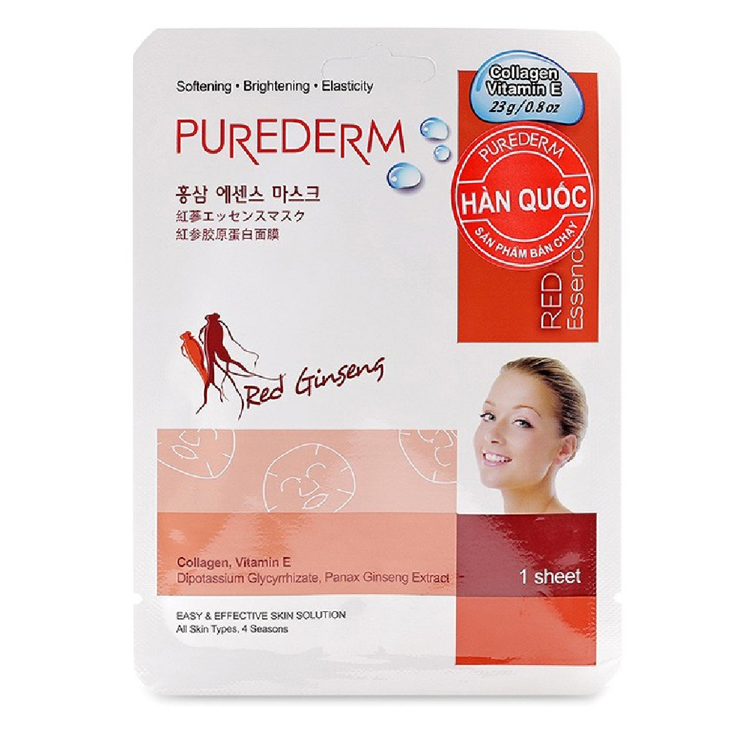 Mặt nạ giấy PURE.red ginseng 23ml