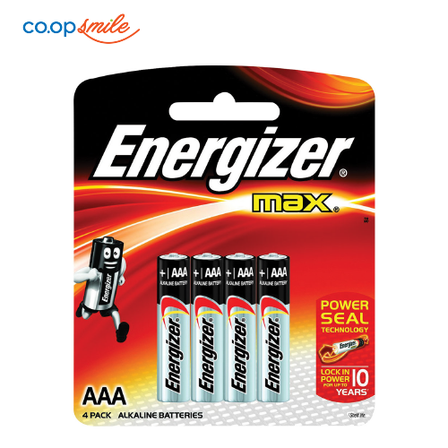 Pin tiểu ENERGIZER AAA Max E92BP4 4 viên