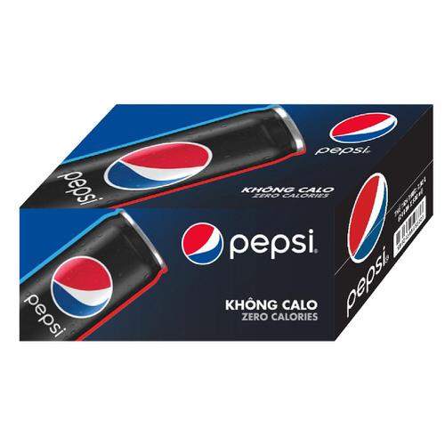 Nước giải khát Pepsi zero calo thùng 24x320ml