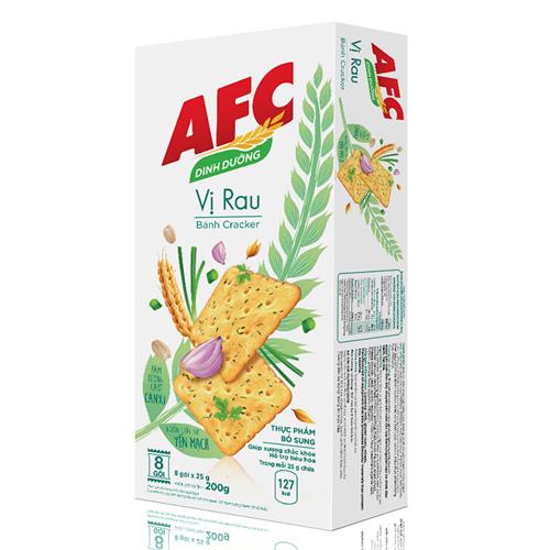 Bánh cracker AFC rau cải 200g