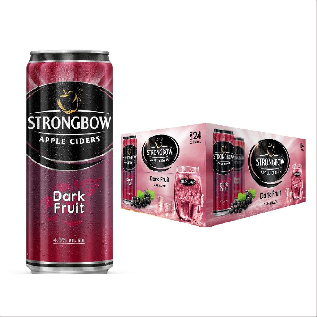 Nước táo StrongBow DarkFruit lon thùng 24x330ml