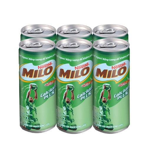 Thức uống dinh dưỡng ít đường MILO lốc 4x180ml