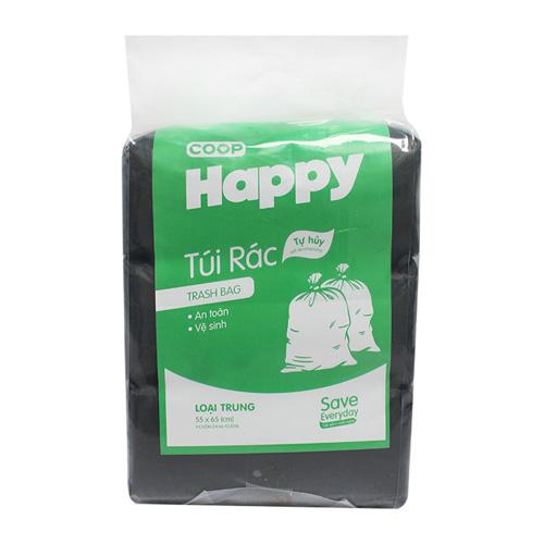 Túi rác đen Co.op Happy 1kg 55x65