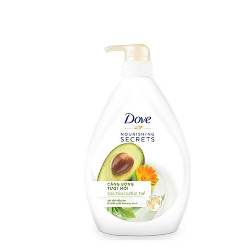Sữa tắm Dove căng bóng tươi mới 530g