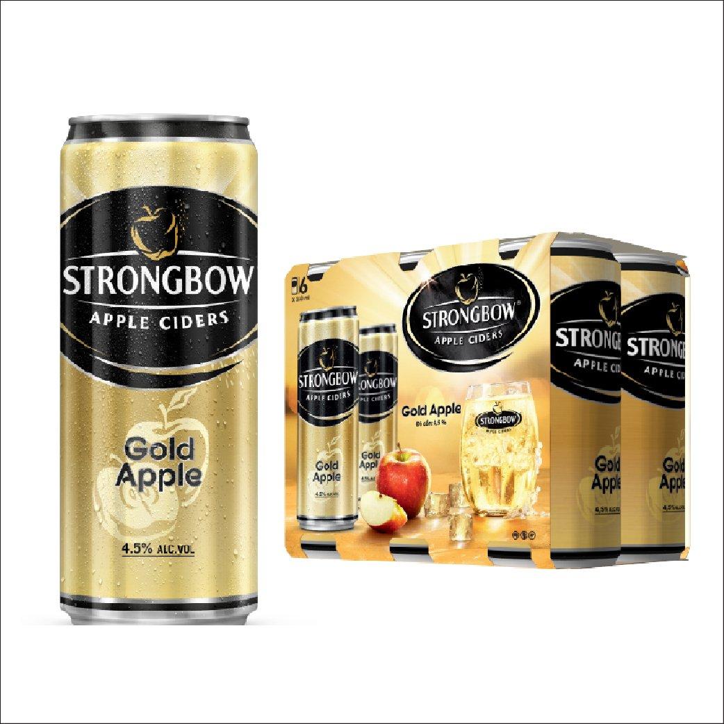 Nước táo StrongBow Gold lon lốc 6x330ml