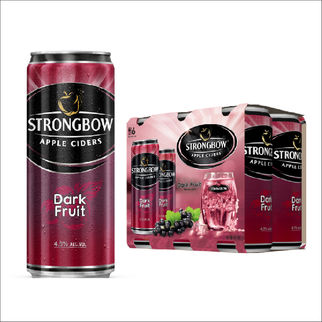 Nước táo StrongBow DarkFruit lon lốc 6x330ml