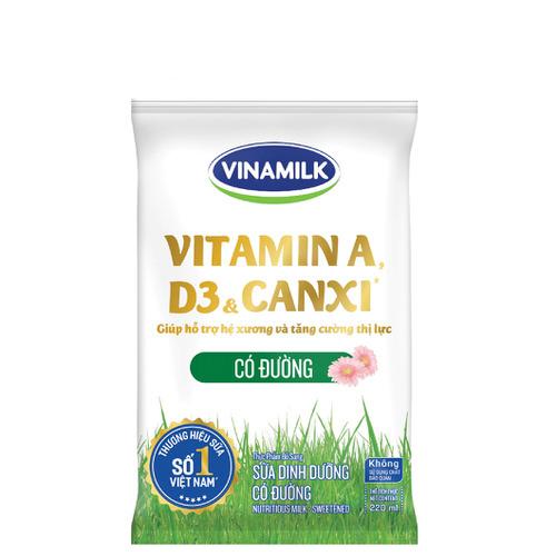 Sữa dinh dưỡng Vinamilk có đường 220ml