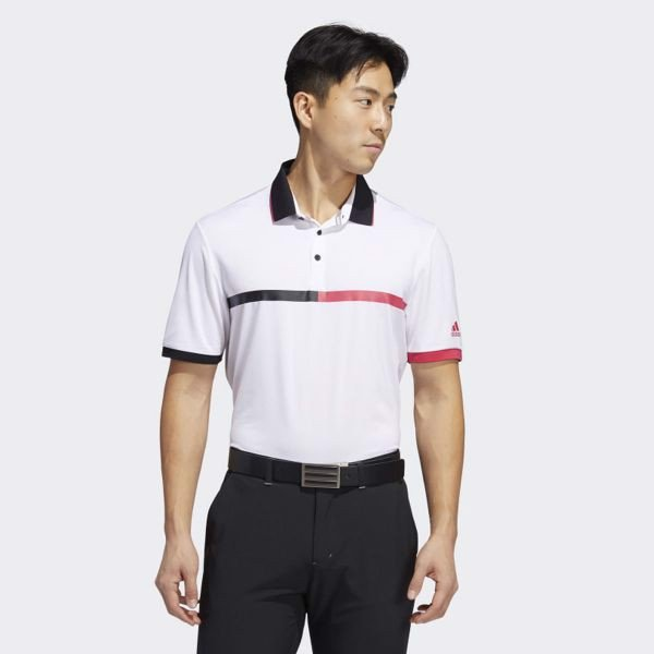 Áo Polo Golf Nam Adidas Ultimate 365 3 Stripe Mercerized Polo FR1165