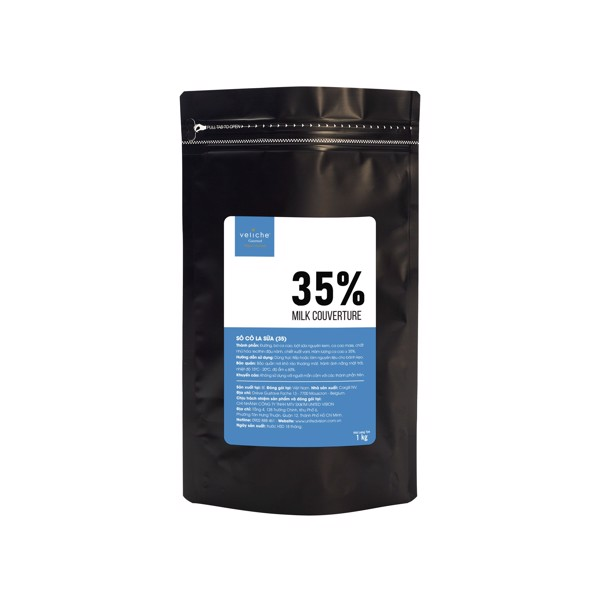 Caramel Taste Milk Chocolate Intense 35% Veliche - 5 Kg Bag