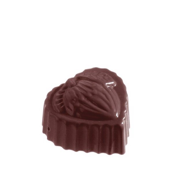 Chocolate Mould Heart Hazelnut CW1057