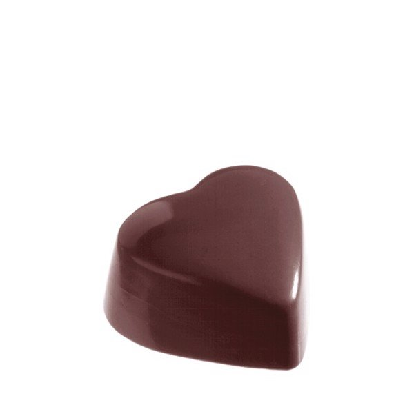 Chocolate Mould Heart High Flat CW1214