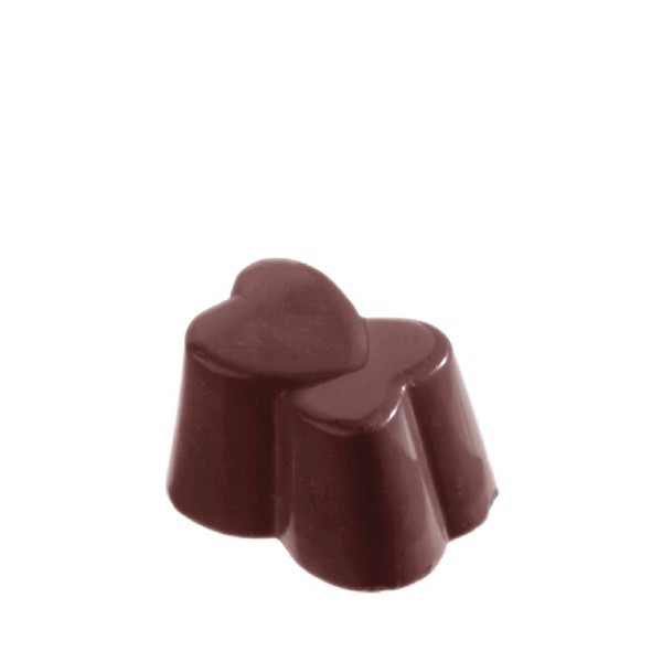 Chocolate Mould Heart Double CW1216