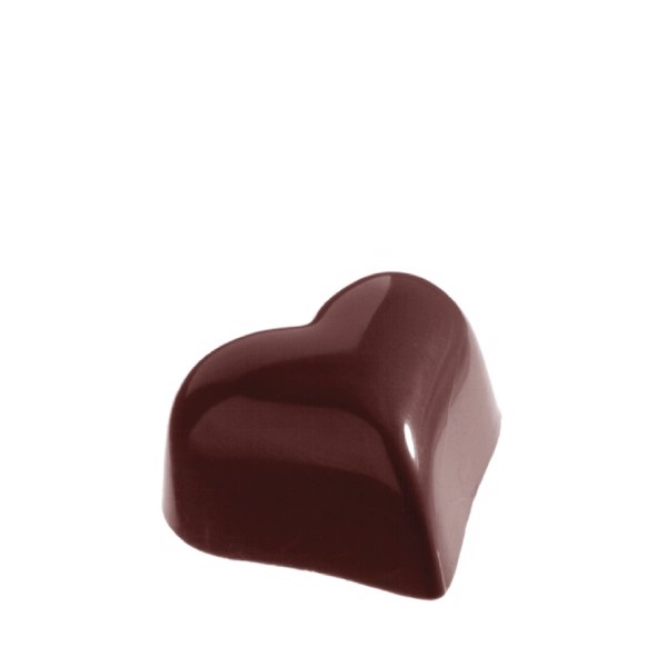 Chocolate Mould Small Puffy Heart  CW1218
