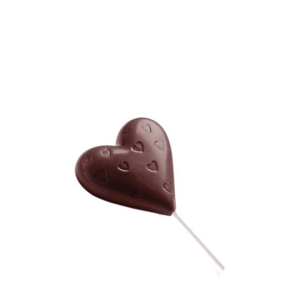 Chocolate Mould Lollipop Heart CW1480